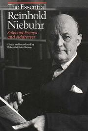 Cover of: The essential Reinhold Niebuhr