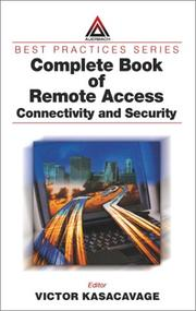 Cover of: Complete Book of Remote Access | Victor Kasacavage