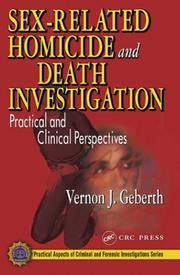 Cover of: Sex-Related Homicide and Death Investigation