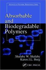 Cover of: Absorbable biodegradable polymers |