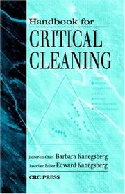 Cover of: Handbook for Critical Cleaning |