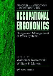 Cover of: Occupational Ergonomics |