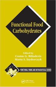 Cover of: Functional Food Carbohydrates (Funtional Foods and Nutraceuticals) |