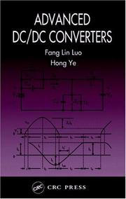 Cover of: Advanced DC/DC Converters (Power Electronics and Applications Series) | Fang Lin Luo