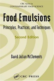 Food emulsions by D. J. McClements