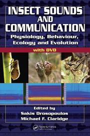 Cover of: Insect Sounds and Communication |