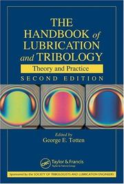 Cover of: Handbook of Lubrication and Tribology