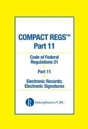 Cover of: Compact Regs Part 11 |