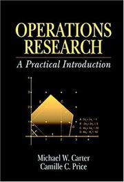 Cover of: Operations Research | Michael W. Carter