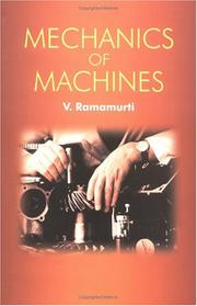 Mechanics of machines by V. Ramamurti