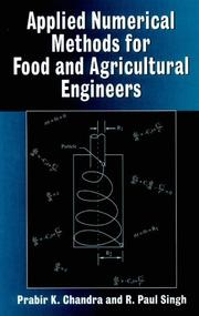 Cover of: Applied numerical methods for food and agricultural engineers | Prabir K. Chandra