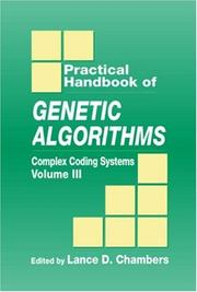 Cover of: Practical handbook of genetic algorithms |