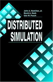Cover of: Distributed simulation | Hamilton, John A.
