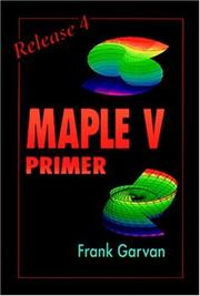 Cover of: The Maple V primer