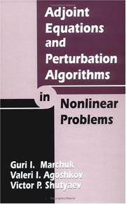 Cover of: Adjoint equations and perturbation algorithms in nonlinear problems