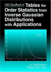 Cover of: CRC handbook of tables for order statistics from inverse Gaussian distributions with applications
