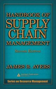Cover of: Handbook of supply chain management |