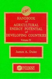 Cover of: Handbook of Agriculture Energy Potential  Development, Volume IV
