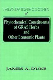 Cover of: Handbook of phytochemical constituents of GRAS herbs and other economic plants
