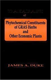 Cover of: Database of Phytochemical Constituents of Gras Herbs and Other Economic Plants