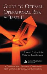 Cover of: Guide to Optimal Operational Risk and BASEL II | Ioannis S. Akkizidis