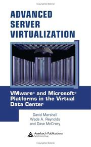 Cover of: Advanced Server Virtualization | David Marshall