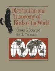 Cover of: Distribution and taxonomy of birds of the world | Charles Gald Sibley