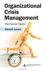 Cover of: Organizational crisis management