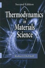 Cover of: Thermodynamics in Materials Science | Robert T. DeHoff