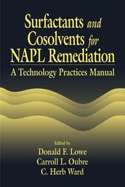 Cover of: Surfactants and cosolvents for NAPL remediation