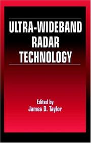 Cover of: Ultra-wideband Radar Technology | James D. Taylor