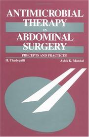 Cover of: Antimicrobial therapy in abdominal surgery | Haragopal Thadepalli