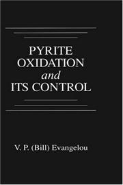 Cover of: Pyrite oxidation and its control