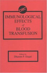 Immunological effects of blood transfusion