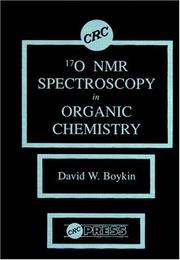 Cover of: 17 0 NMR Spectroscopy in Organic Chemistry (NMR) | David W. Boykin