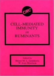 Cover of: Cell-mediated immunity in ruminants |