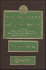 Cover of: Elemental analysis of biological systems