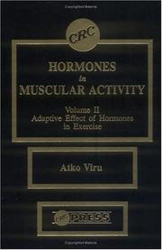 Cover of: Hormones in muscular activity