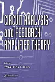 Cover of: Circuit analysis and feedback amplifier theory