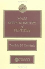 Cover of: Mass spectrometry of peptides |