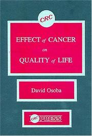 Cover of: Effect of cancer on quality of life |