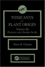 Cover of: Toxicants Of Plant Origin, Volume 3