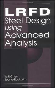 Cover of: LRFD steel design using advanced analysis