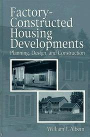 Cover of: Factory constructed housing developments