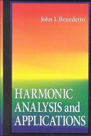 Cover of: Harmonic analysis and applications