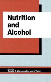 Cover of: Nutrition and alcohol