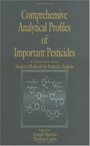 Cover of: Comprehensive analytical profiles of important pesticides |