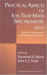 Cover of: Practical Aspects of Ion Trap Mass Spectrometry |