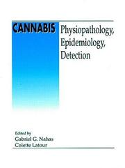 Cover of: Cannabis Physiopathology Epidemiology Detection