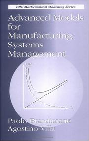 Cover of: Advanced models for manufacturing systems management